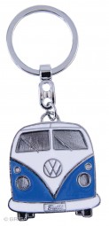 VW Collection Schlüsselanhänger blau Bulli-Front-Design