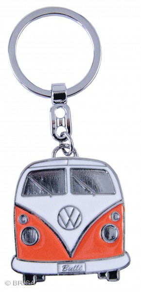 VW Collection Schlüsselanhänger orange Bulli-Front-Design