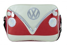 VW Collection Schultertasche VW Bulli Querformat rot/creme