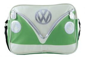 VW Collection Schultertasche VW Bulli Querformat grün/creme