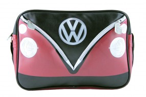 VW Collection Schultertasche VW Bulli Querformat rot/schwarz