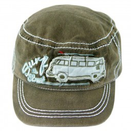 VW Collection Military-Cap jeans olive