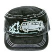 VW Collection Military-Cap jeans schwarz