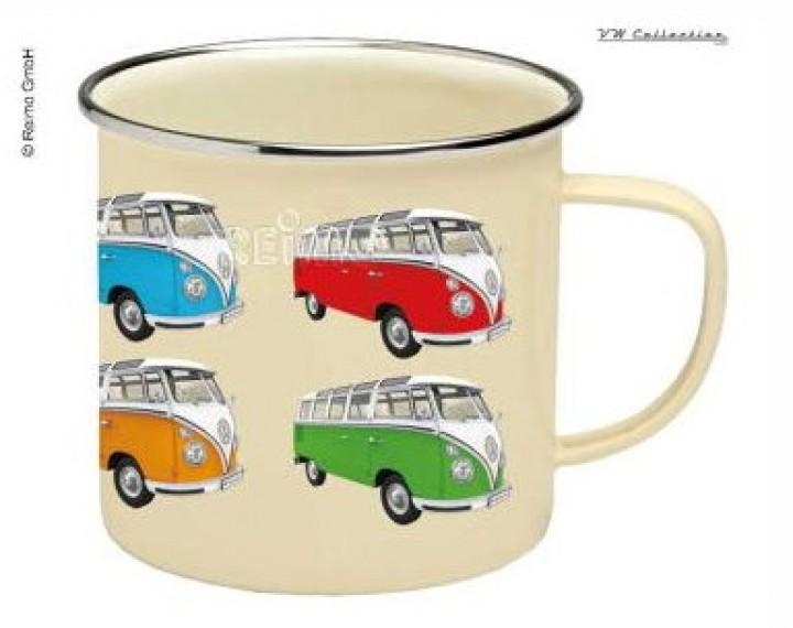 VW Collection Tasse Emaille VW Bulli Beige