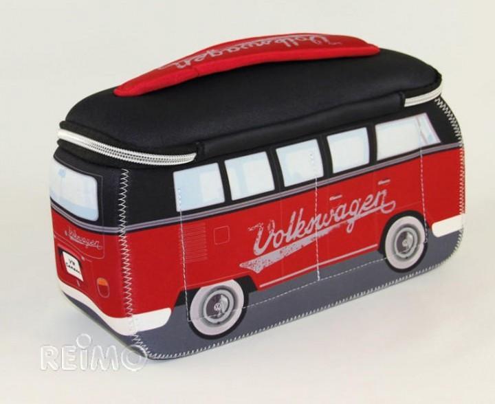 VW Collection Kulturbeutel Bulli T1 rot/schwarz