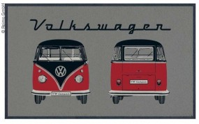 VW Bulli Türmatte Front und Heck grau