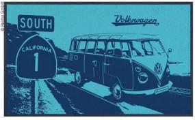 VW Bulli Türmatte blau Highway