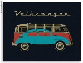 VW Collection Fleecedecke VW Bulli & Beetle Motiv