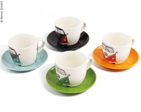 VW Collection Bulli Espresso-Tassen 4er-Set