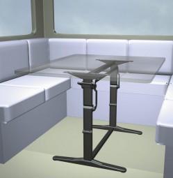 Hubtischgestell Traveline Twin anthrazitmetallic 530 mm