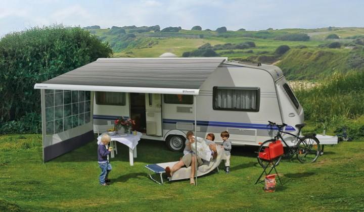 Dometic-Markise PerfectRoof PR 2500 weiß 3,75 x 2,5 m Grau