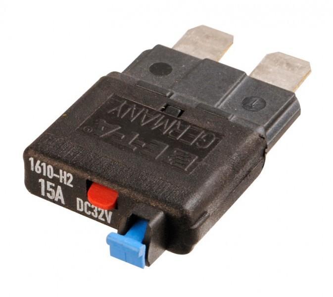 Flachsteck-Sicherungsautomat 15 Ampere
