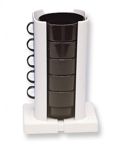 Tassenstapler weiß/beige 21 cm