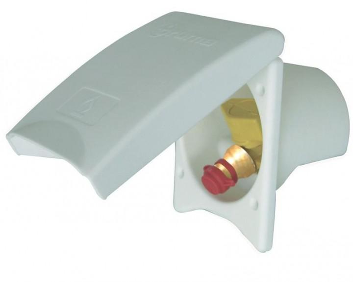 Gas-Außensteckdose elfenbein