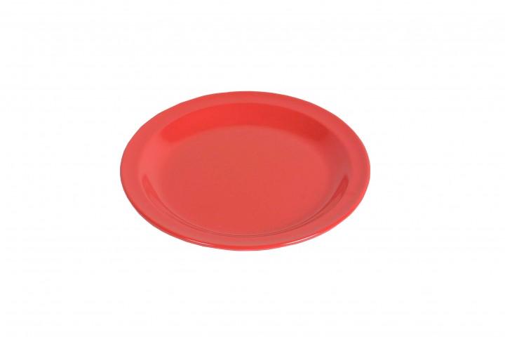 Waca Melamin, rot Teller flach Ø 23,5 cm