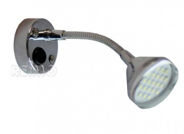 LED 12V Leseleuchte chrom