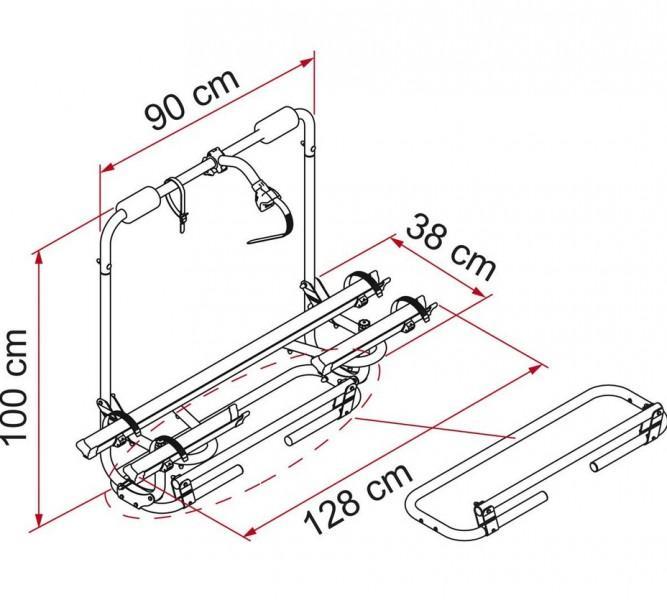 Fiamma Deichselträger Carry Bike® Caravan XL A Pro 200