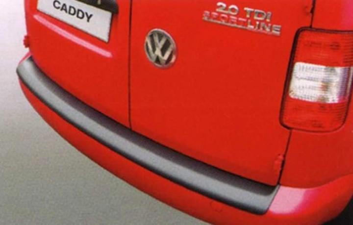 Ladekantenschutz silber für VW Caddy-Maxi ab 5/2004 mit schwarzer Stoßstange