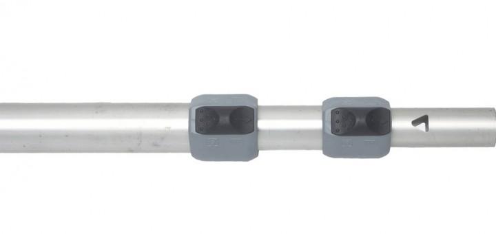 Easysystem Stab 3 teilig 28 + 25 + 22 mm Alu Länge 115 – 270 cm