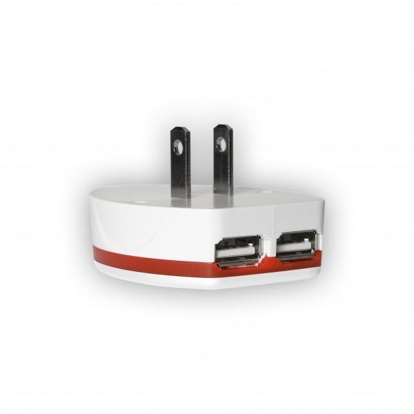 Skross Steckeradapter 'World Travel' mit USB Lader doppelter USB Ausgang