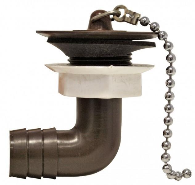 Wasserauslauf 3/4 Zoll braun abgewinkelt 90 Grad