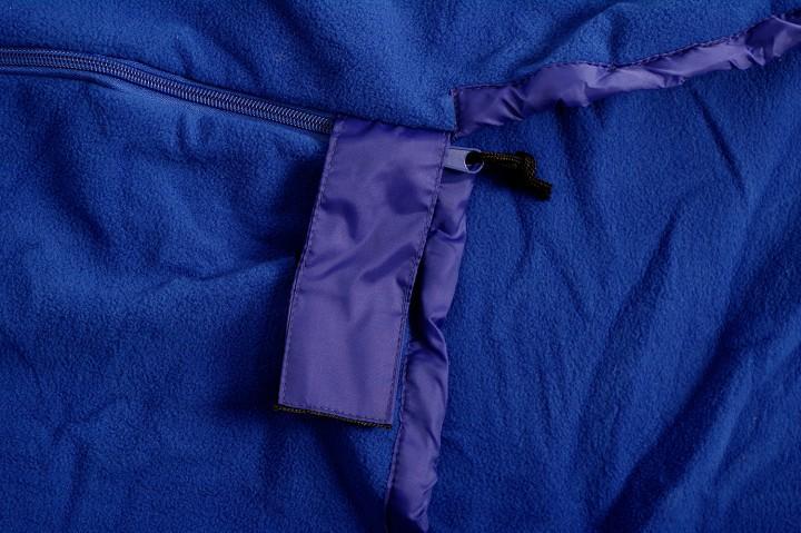 Basic Nature Fleece Schlafsack Mumienform, royalblau