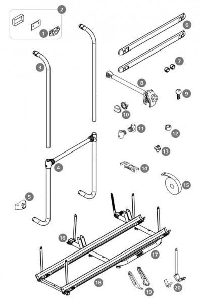 Schienenbügel Thule Sport G2 2 Doors