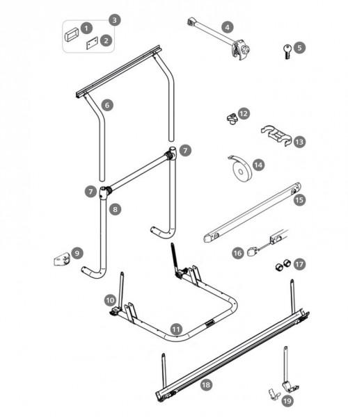 Thule Montagesatz für Fahrradträger Sport W150 / Wohnwagen Hobby