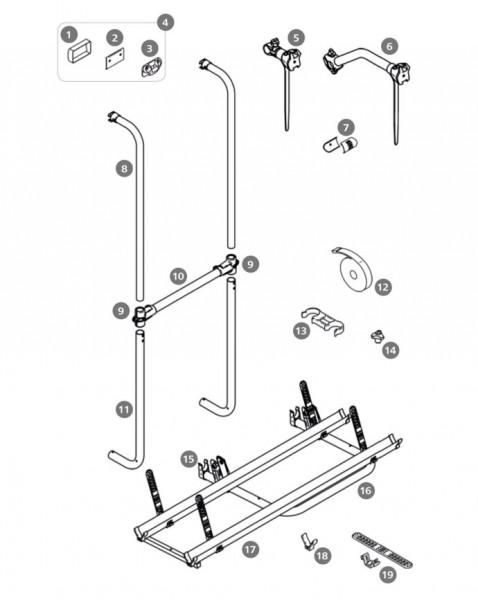 Montagesatz Thule Sport 2 Doors