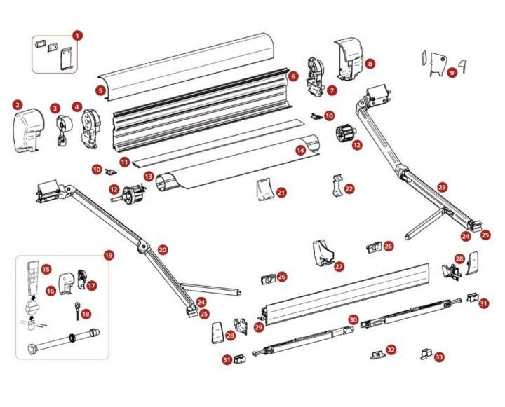 Fernbedienung für Motor Thule Omnistor 8000 und 9200