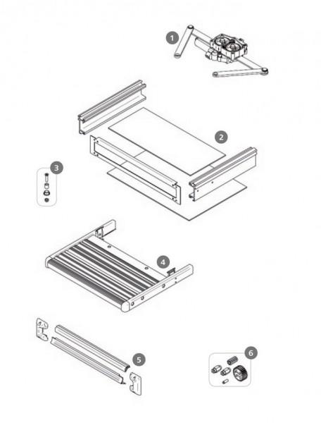 Zahnräder und Achse Thule Slide-Out Step 12V Satz