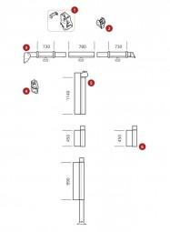 Klemmprofil Thule Safari Residence / Panorama 5002 / 5003 / 5500 / 5800, Auszug 2,5 m, rechts