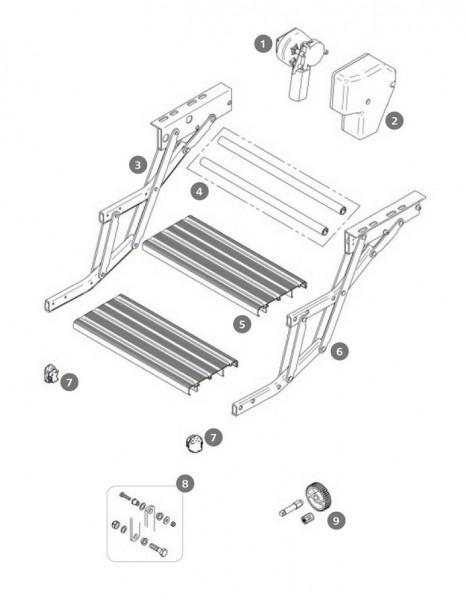 Rahmenverbindung Thule Double Step 12V 380 Alu 2 Stück