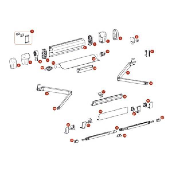 Montagesatz Thule Omnistor 5002 5003 Bis Markisenl Nge 3