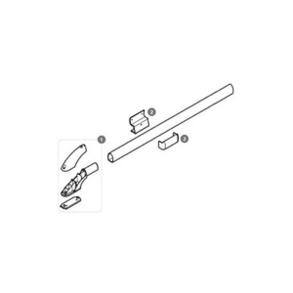 Stützen mit Abdeckkappe für Thule Roof-Rack, grau, 2 Stück