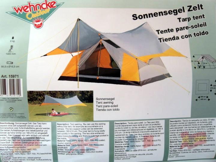 Sonnensegel Zelt