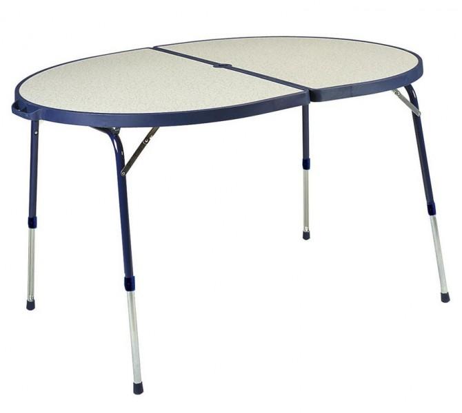 Crespo Campingtisch oval 120 x 90 cm blau