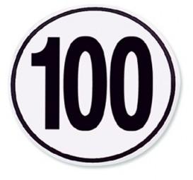 Geschwindigkeit Begrenzungsschild 100 km/h
