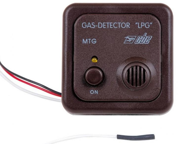 Gaswarner Propangas LPG 12 Volt braun