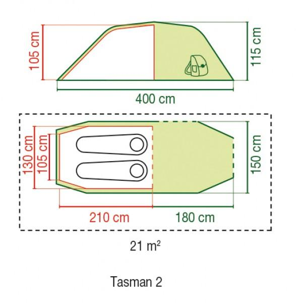 Coleman Zelt Tasman 2 Personen
