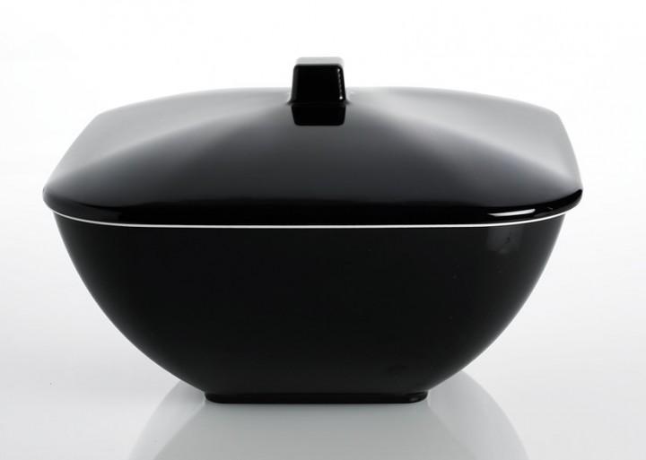 Schüssel mit Deckel Quadrato Black and White