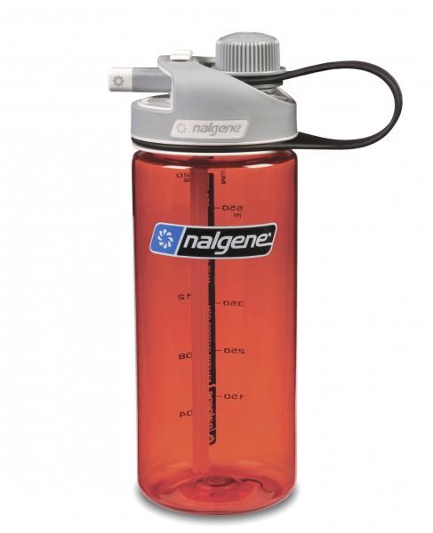 Nalgene 'Multi Drink' 0,6 L, rot