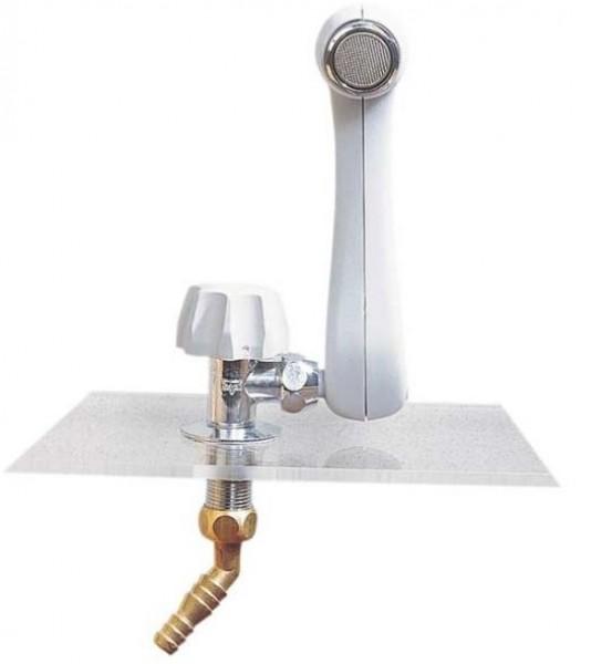 MS-Auslauf-Wasserhahn grau