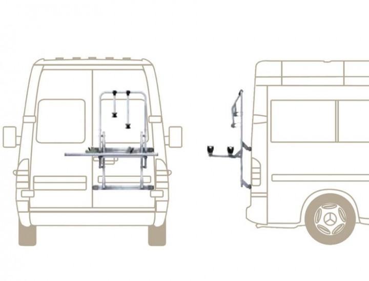 fahrradtr ger f r geteilte heckt r mb sprinter vw lt fiat. Black Bedroom Furniture Sets. Home Design Ideas