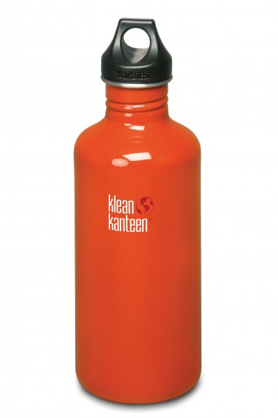 Klean Kanteen Flasche 'Classic' Loop Cap rot, 1,182 L