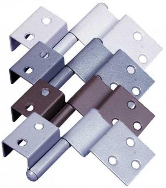 Spezialscharnier für Türen links hellgrau