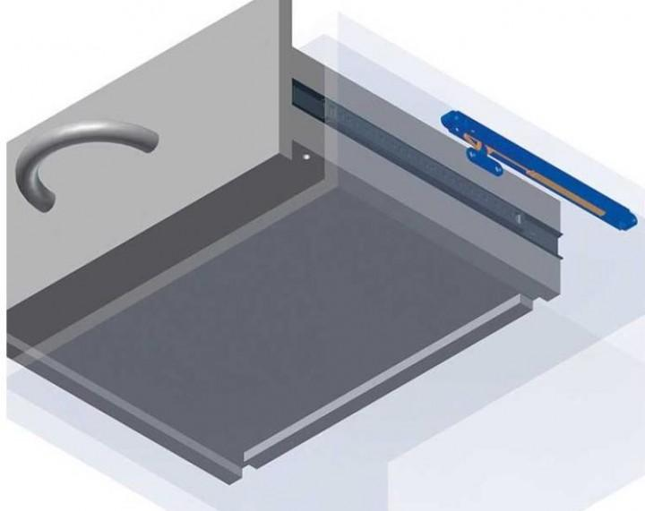Schubladen-Selbsteinzug 220mm mit Dämpfersystem
