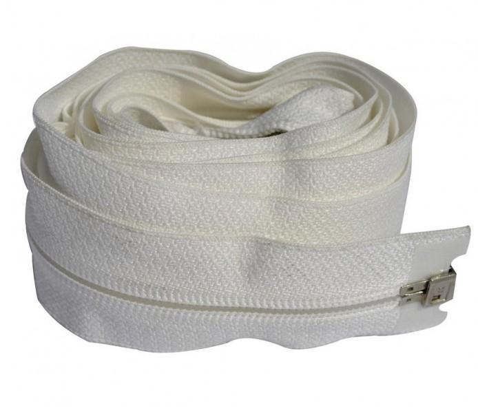 Zeltreißverschluss 165 cm weiß