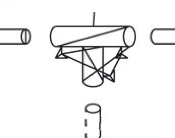 T-Stück 28 mm für Windschutzstangen
