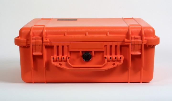 Pelibox 1550 orange mit Schaumeinsatz